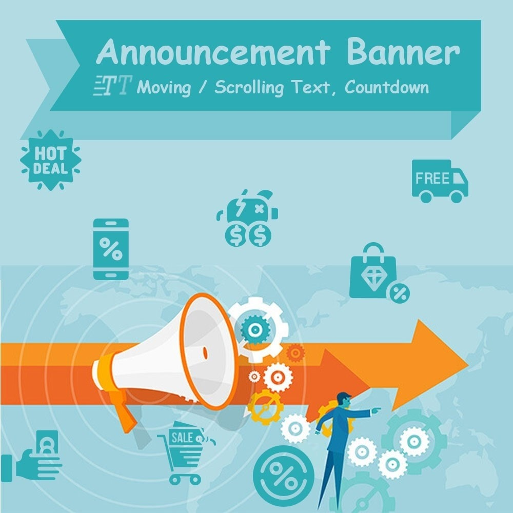 module - Bloques, Pestañas y Banners - Announcement banner, Moving / Scrolling Text and more - 1