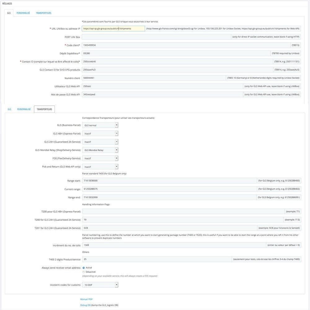 module - Préparation & Expédition - StickerGLS - 2