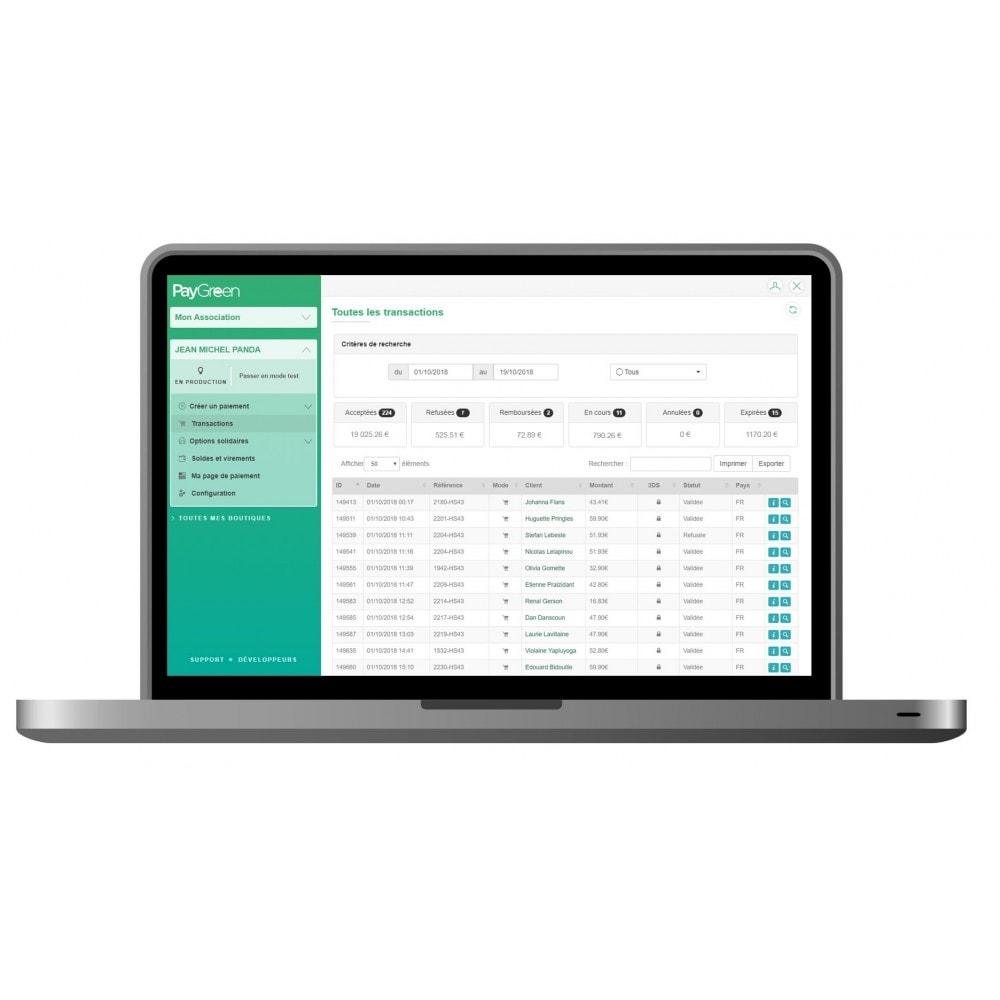 module - Paiement par Carte ou Wallet - PayGreen - La Solution De Paiement Green - 1