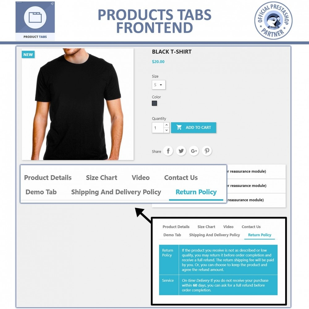 module - Additional Information & Product Tab - Product Tabs - Add Extra Tabs Custom - 3