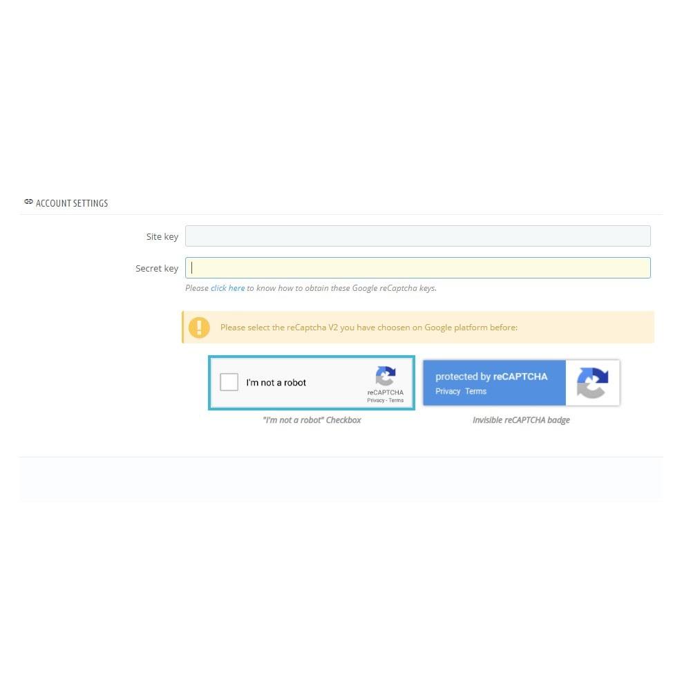 module - Segurança & Acesso - reCaptcha - Google Anti Spam - 4