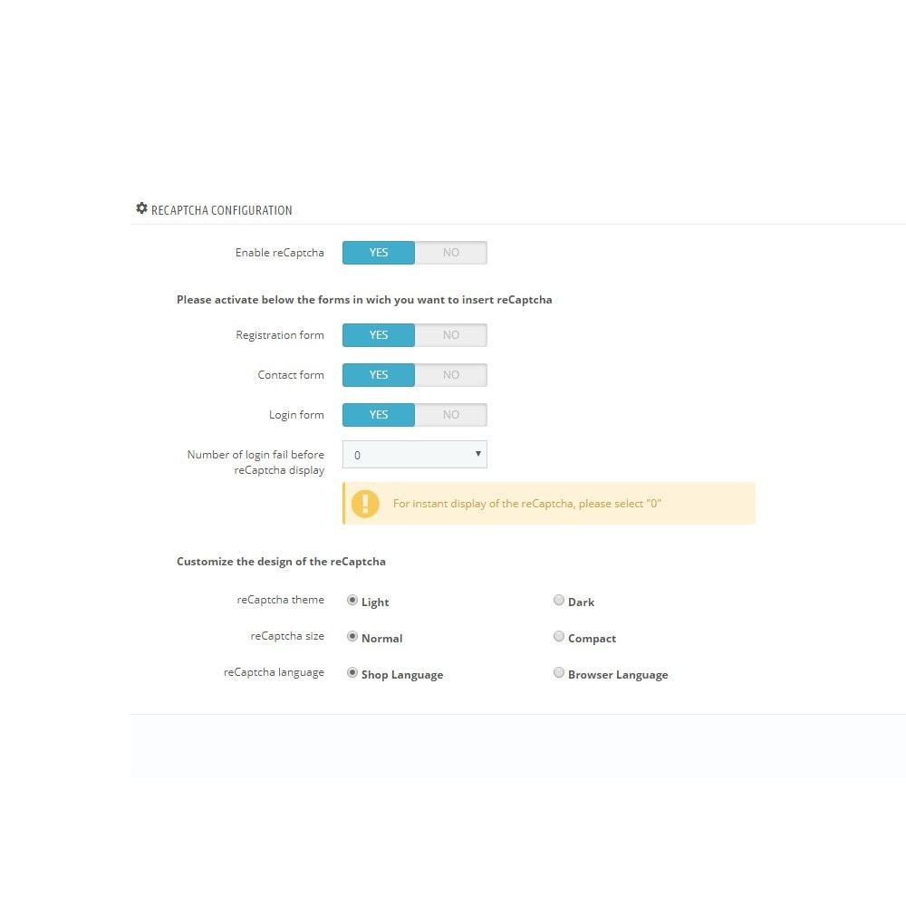 module - Segurança & Acesso - reCaptcha - Google Anti Spam - 5