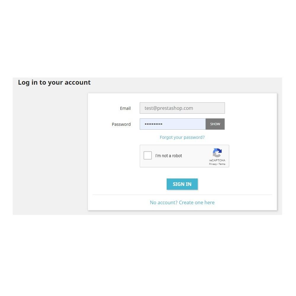 module - Segurança & Acesso - reCaptcha - Google Anti Spam - 2