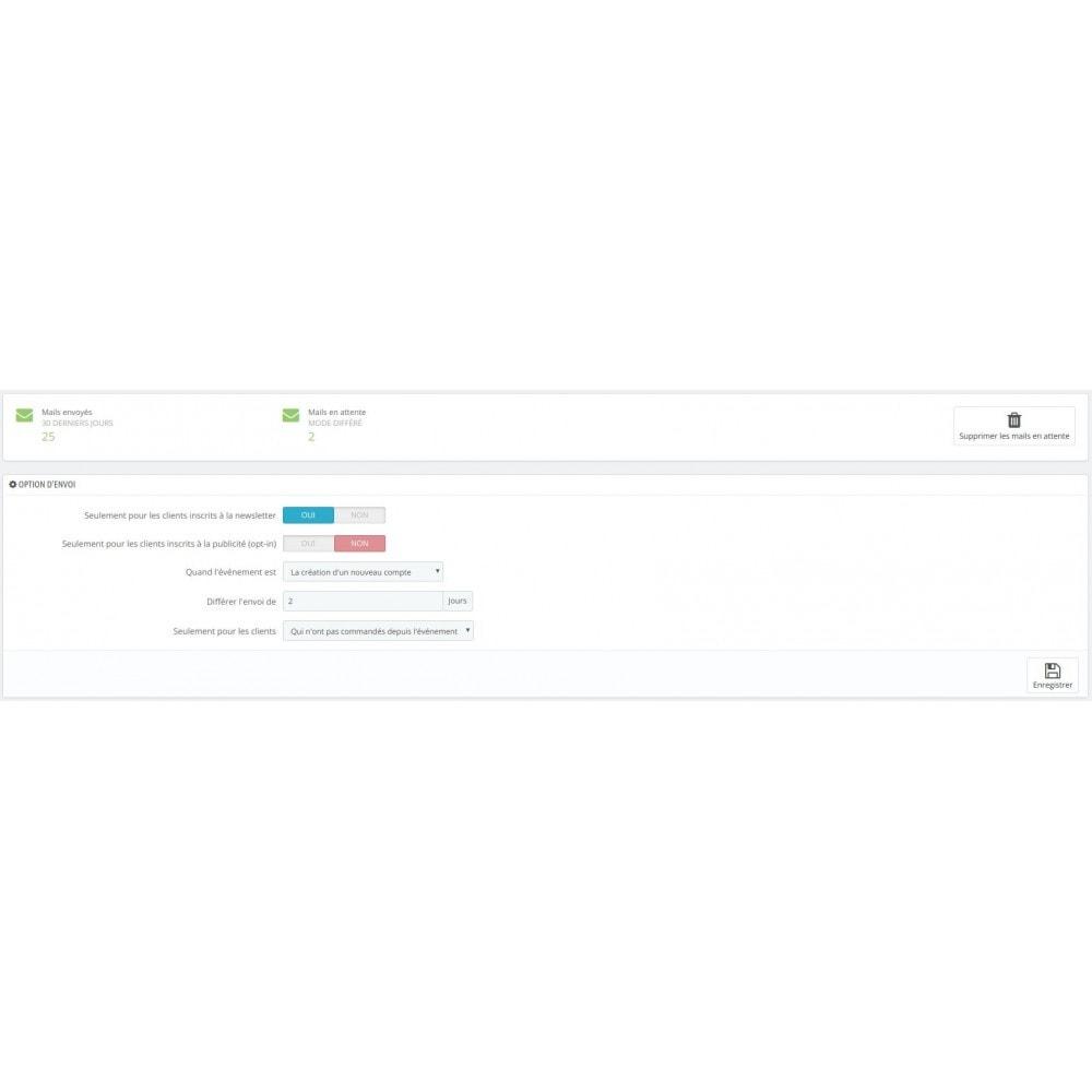 module - E-mails & Notifications - Envoi d'email automatique client - 1