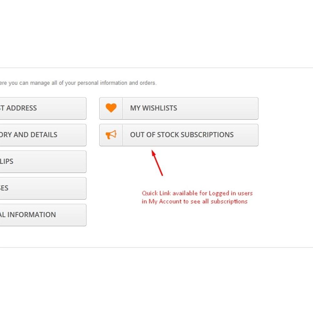 module - Emails & Notificaties - Niet op voorraad Melding - 9