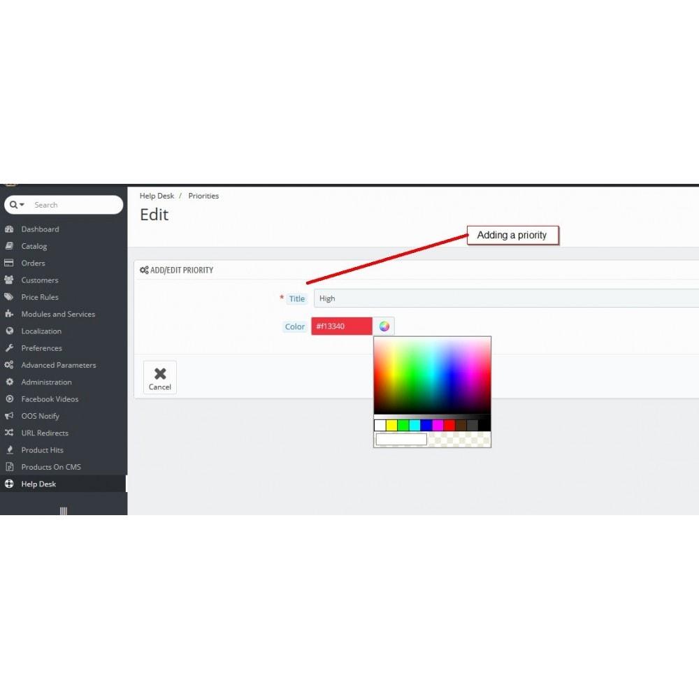 module - Ondersteuning & Online chat - Helpdesk, ondersteuning beheer - 8
