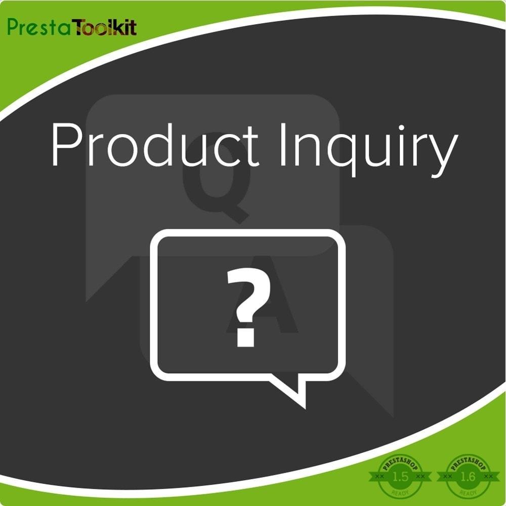 module - Contactformulier & Enquêtes - Product Onderzoek, product offerte - 1