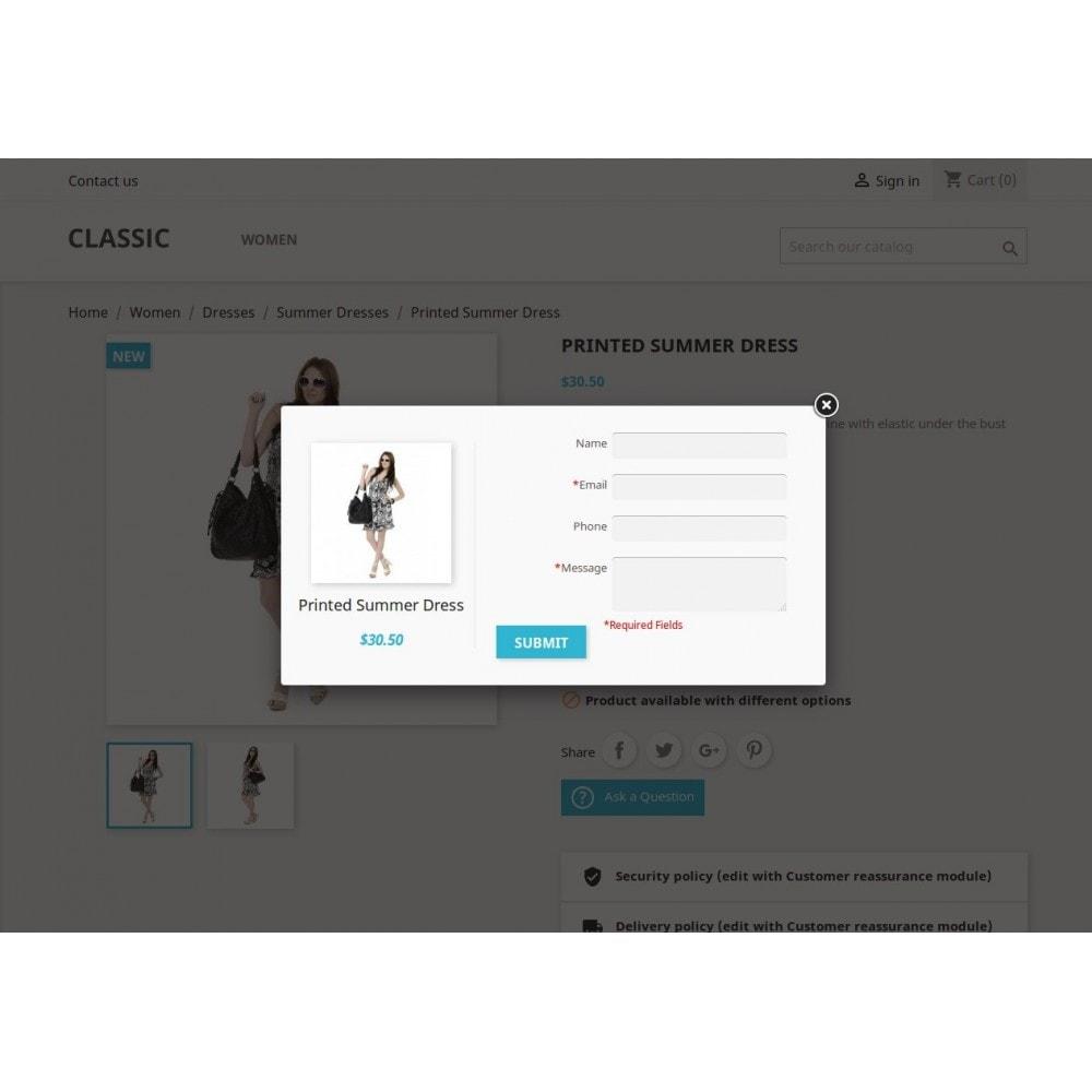 module - Contactformulier & Enquêtes - Product Onderzoek, product offerte - 12