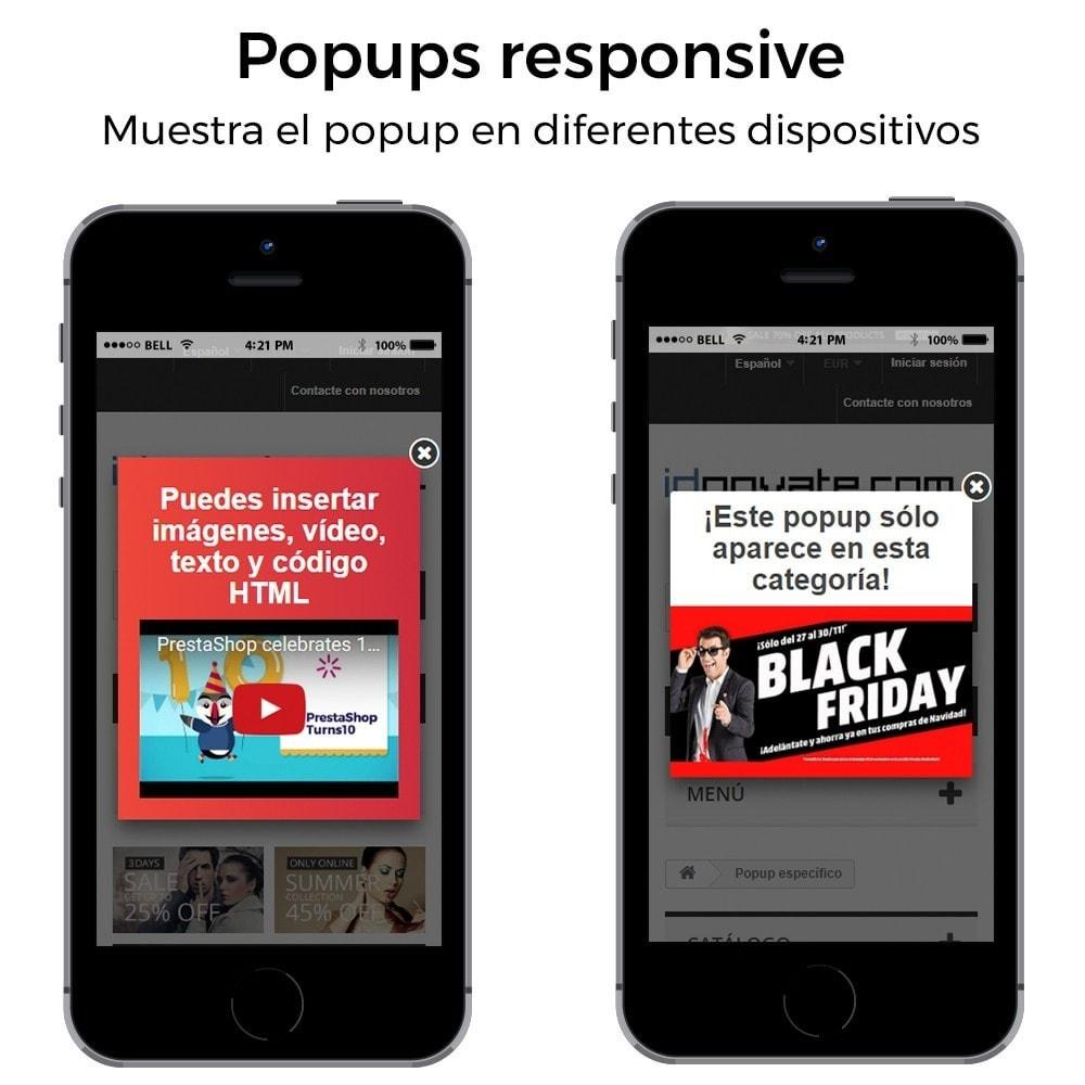 module - Pop-up - Popup al entrar, salir, añadir producto y newsletter - 8