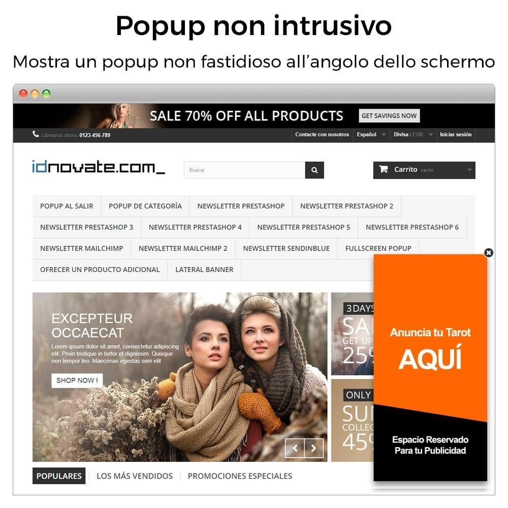 module - Pop-up - Popup in entrata, uscita, aggiunta prodotto, newsletter - 7
