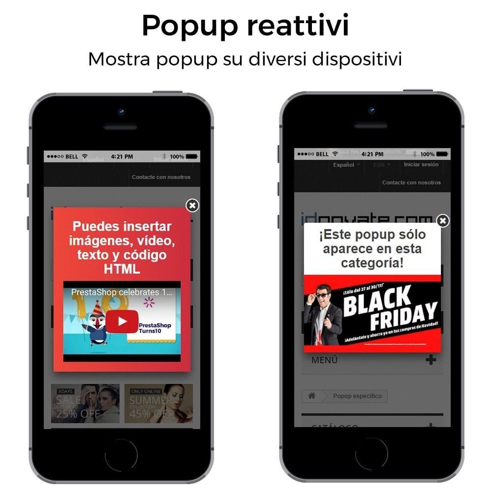 module - Pop-up - Popup in entrata, uscita, aggiunta prodotto, newsletter - 8