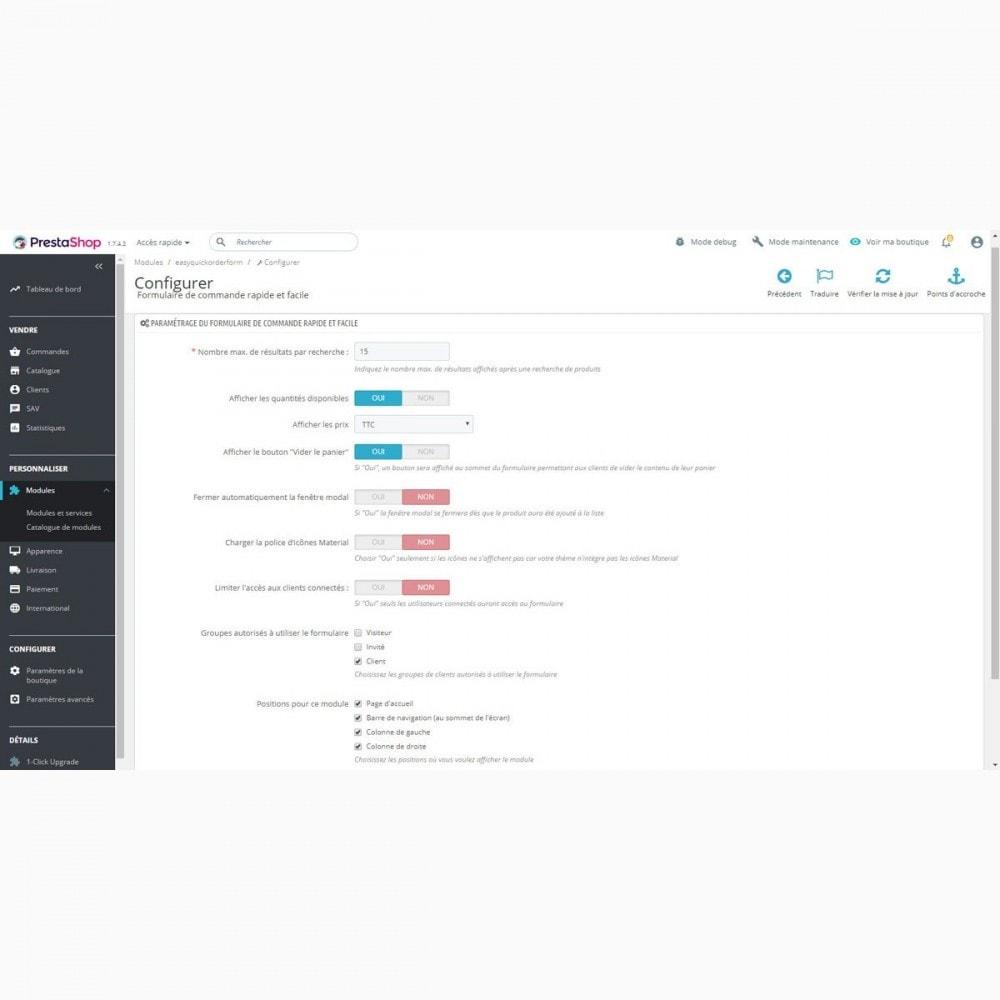 module - Processus rapide de commande - Formulaire de commande rapide et facile - 2