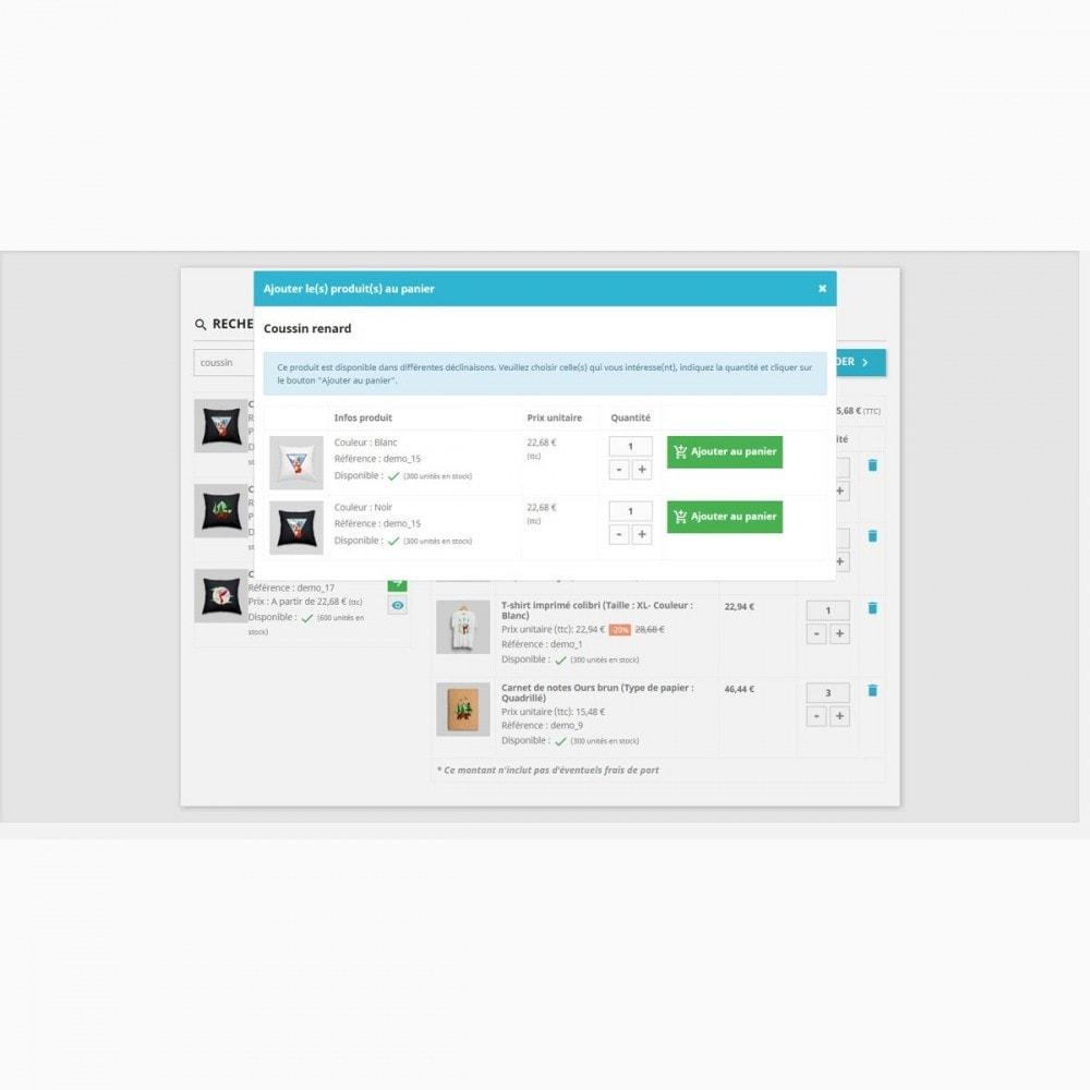 module - Processus rapide de commande - Formulaire de commande rapide et facile - 3