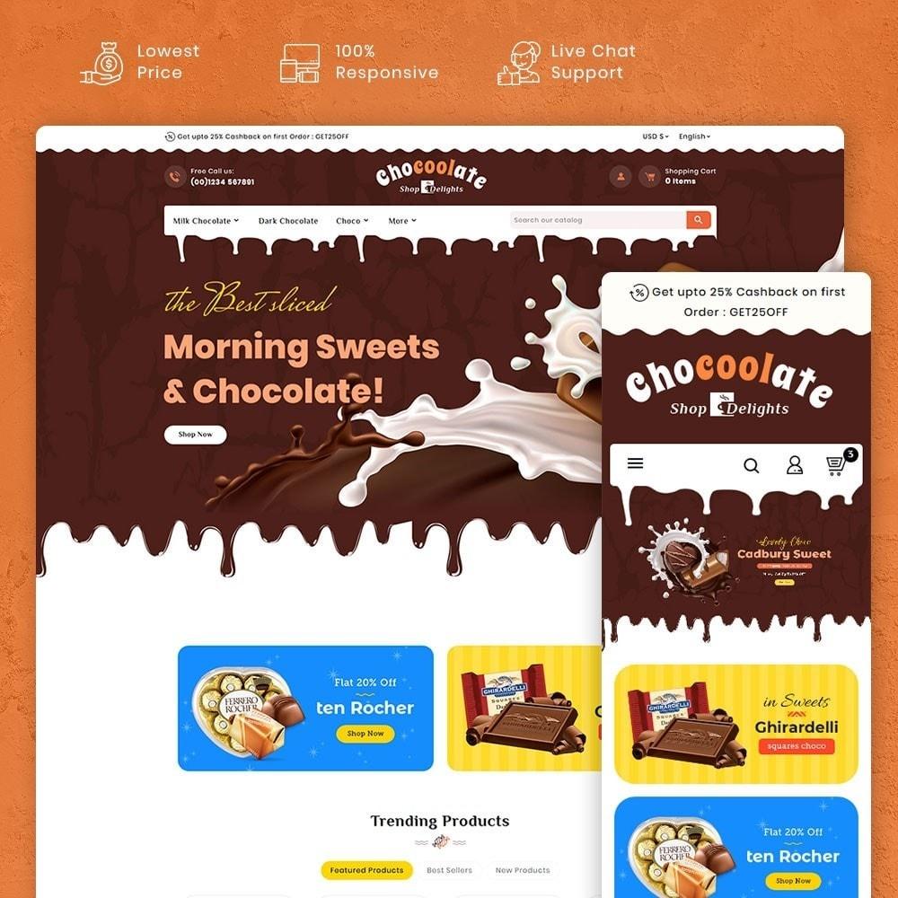 theme - Presentes, Flores & Comemorações - Chocolate - Delights & Dairy Shop - 1
