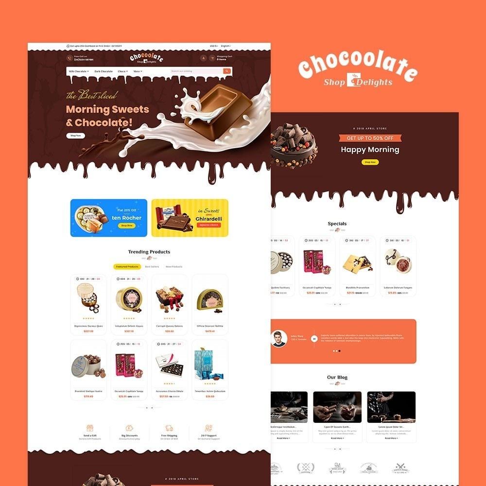 theme - Presentes, Flores & Comemorações - Chocolate - Delights & Dairy Shop - 2