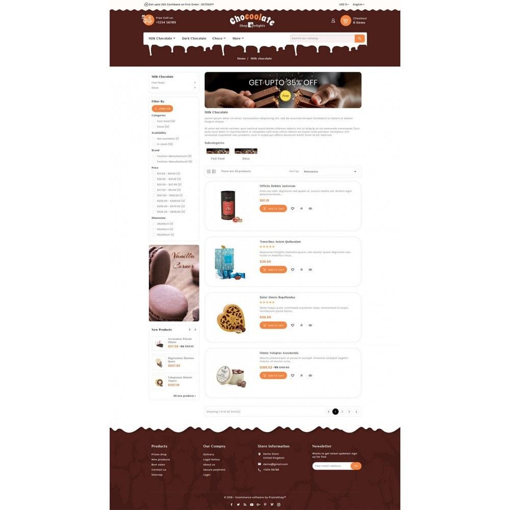 theme - Presentes, Flores & Comemorações - Chocolate - Delights & Dairy Shop - 4