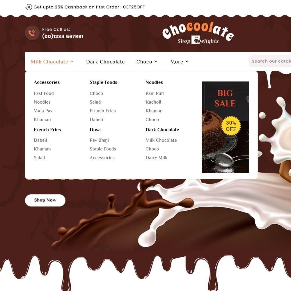 theme - Presentes, Flores & Comemorações - Chocolate - Delights & Dairy Shop - 9