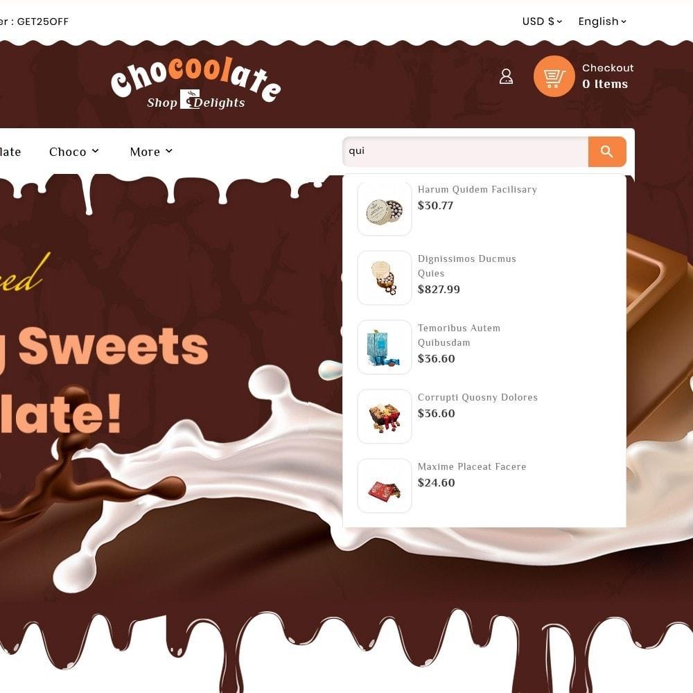 theme - Presentes, Flores & Comemorações - Chocolate - Delights & Dairy Shop - 10
