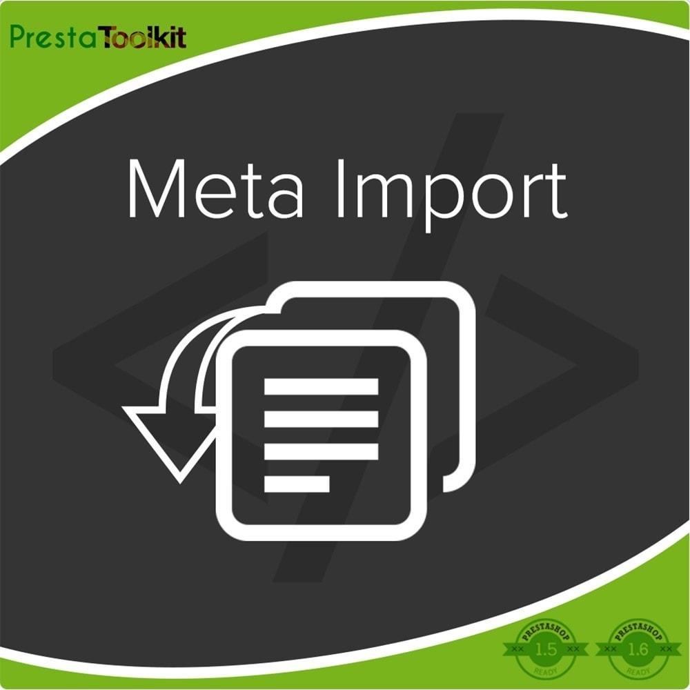 module - SEO (Referenciamento natural) - Tags SEO, Importação Meta Tags - 1