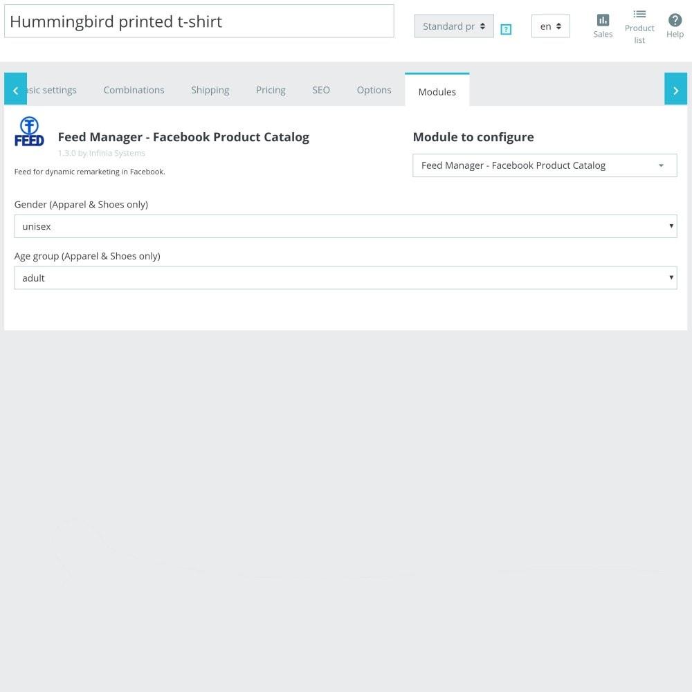 module - Produkte in Facebook & sozialen Netzwerken - Social Network Feed (shop & ads) - 6