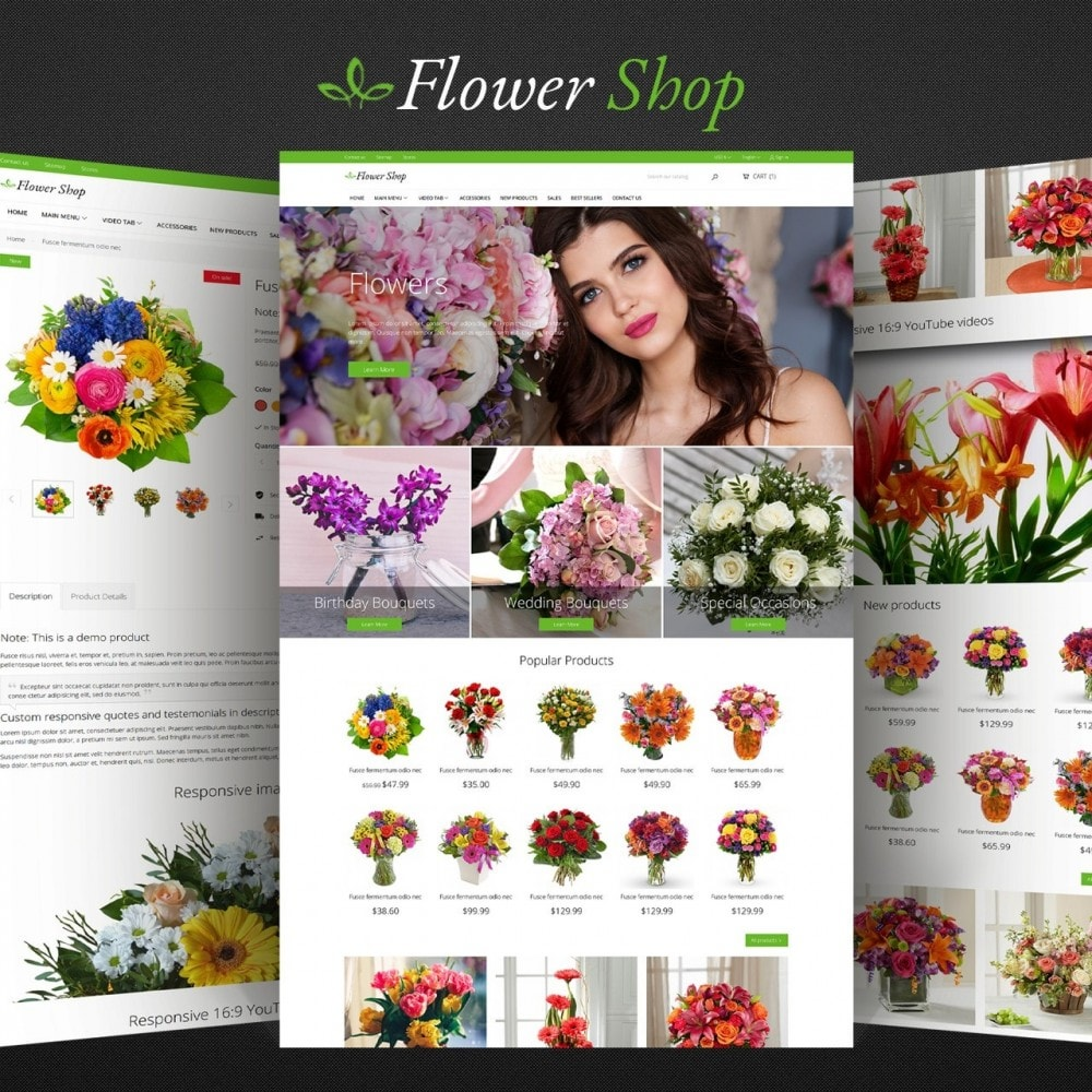 theme - Gifts, Flowers & Celebrations - Flower Shop - 1