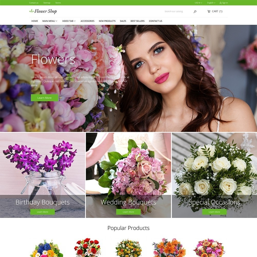 theme - Gifts, Flowers & Celebrations - Flower Shop - 2