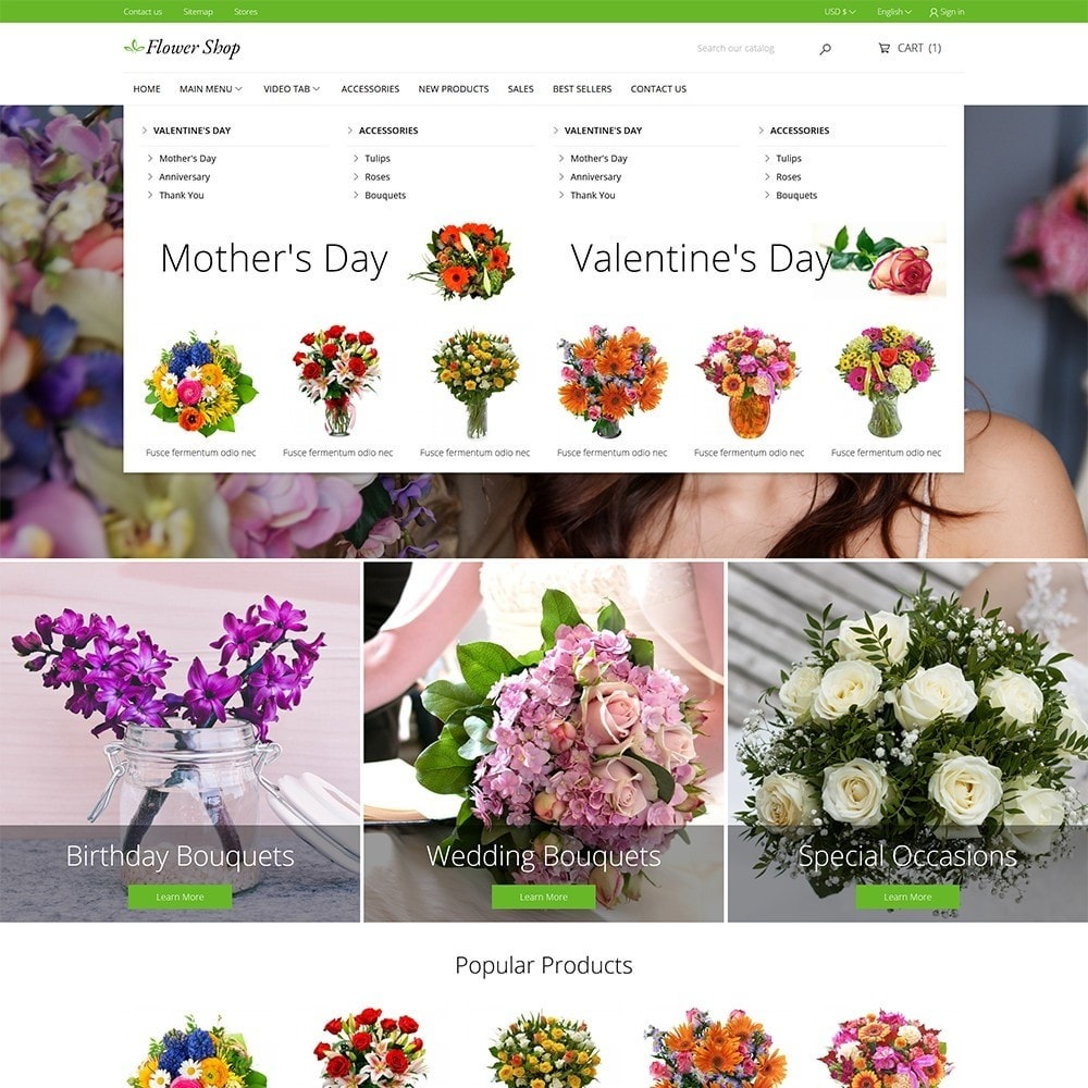 theme - Gifts, Flowers & Celebrations - Flower Shop - 3