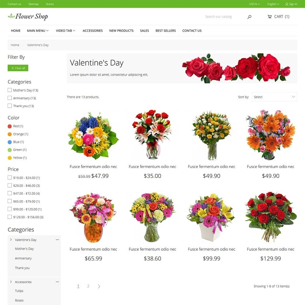 theme - Gifts, Flowers & Celebrations - Flower Shop - 7