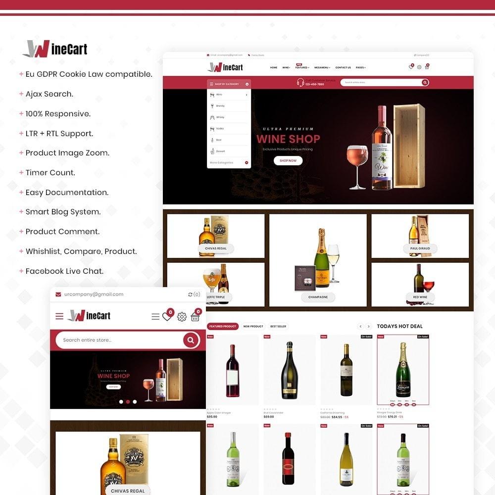 theme - Напитки и с сигареты - Wine cart– Multipurpose Mega Wine Store - 1