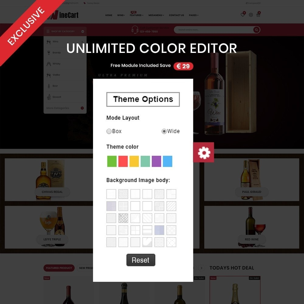 theme - Напитки и с сигареты - Wine cart– Multipurpose Mega Wine Store - 3