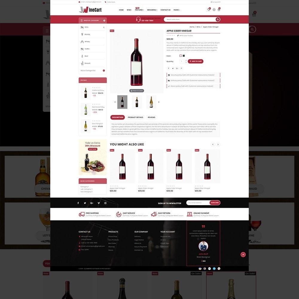 theme - Напитки и с сигареты - Wine cart– Multipurpose Mega Wine Store - 13
