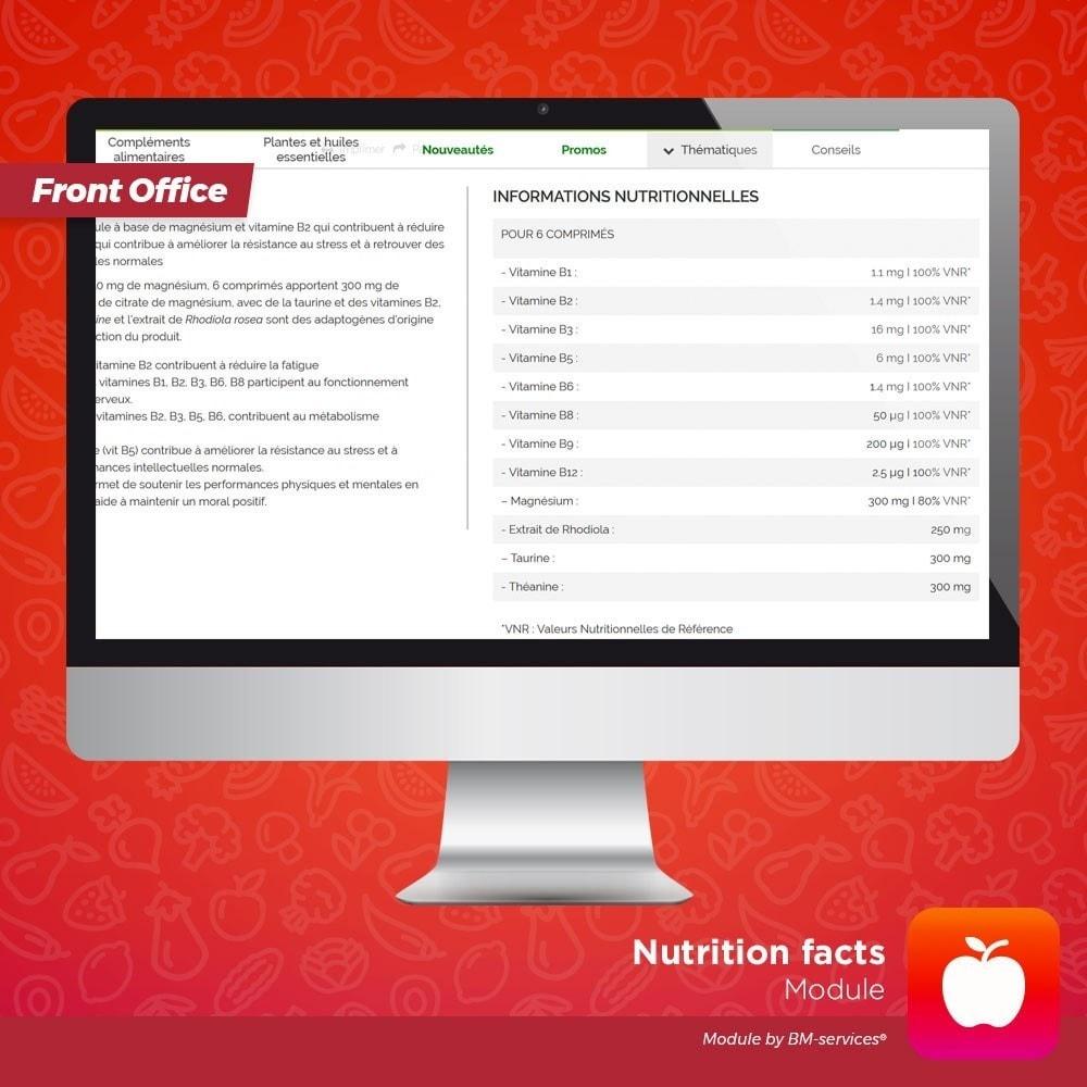 module - Żywność & Restauracj - Nutrition facts, ingredients and labels - 4