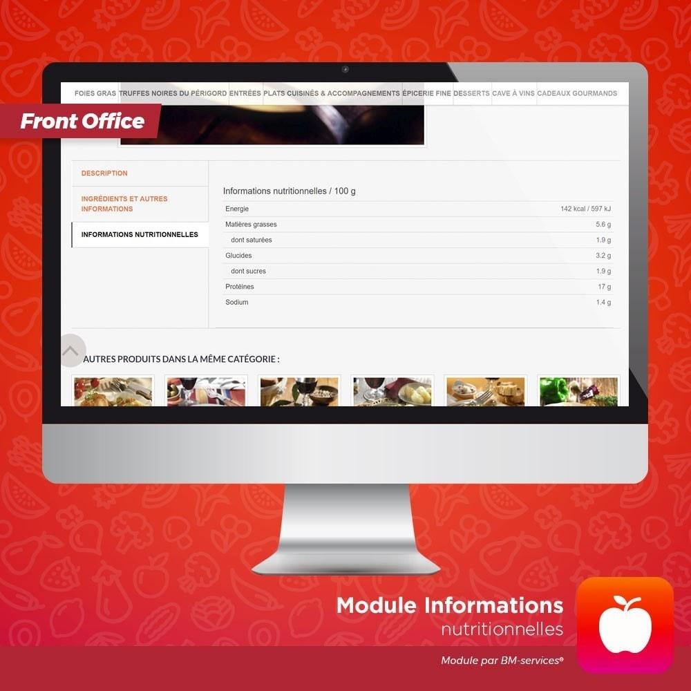 module - Alimentation & Restaurants - Informations nutritionnelles, ingrédients et labels - 2