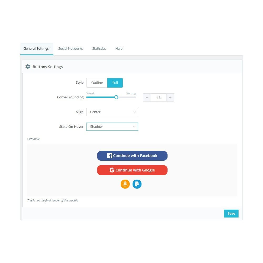 module - Przyciski do logowania  & Connect - Social Connect (Google, Facebook, PayPal, Amazon) - 5