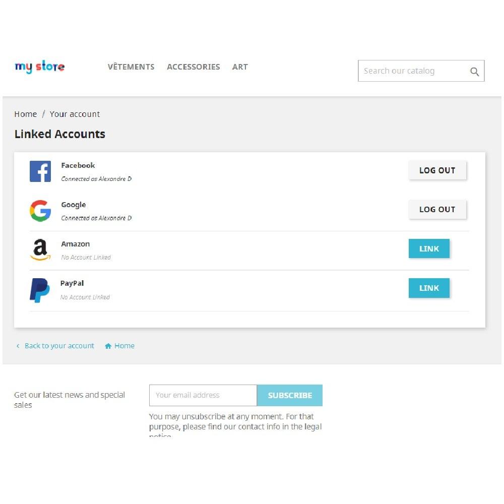 module - Przyciski do logowania  & Connect - Social Connect (Google, Facebook, PayPal, Amazon) - 8