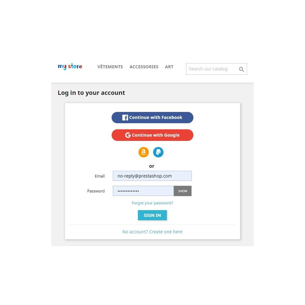 module - Przyciski do logowania  & Connect - Social Connect (Google, Facebook, PayPal, Amazon) - 2