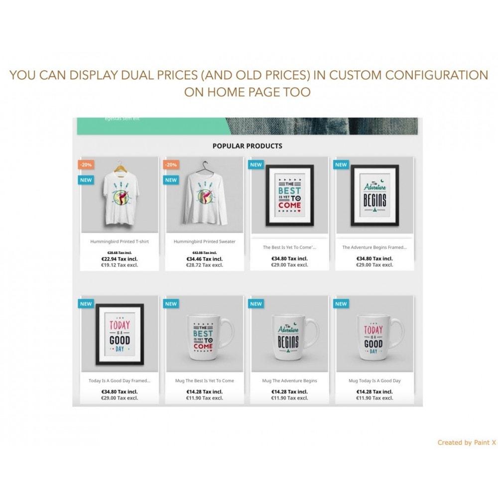 module - Gestion des Prix - Double affichage avancé au prix avec taxe et sans taxe - 5