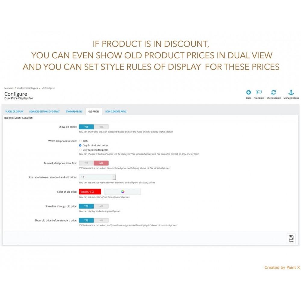 module - Gestion des Prix - Double affichage avancé au prix avec taxe et sans taxe - 10