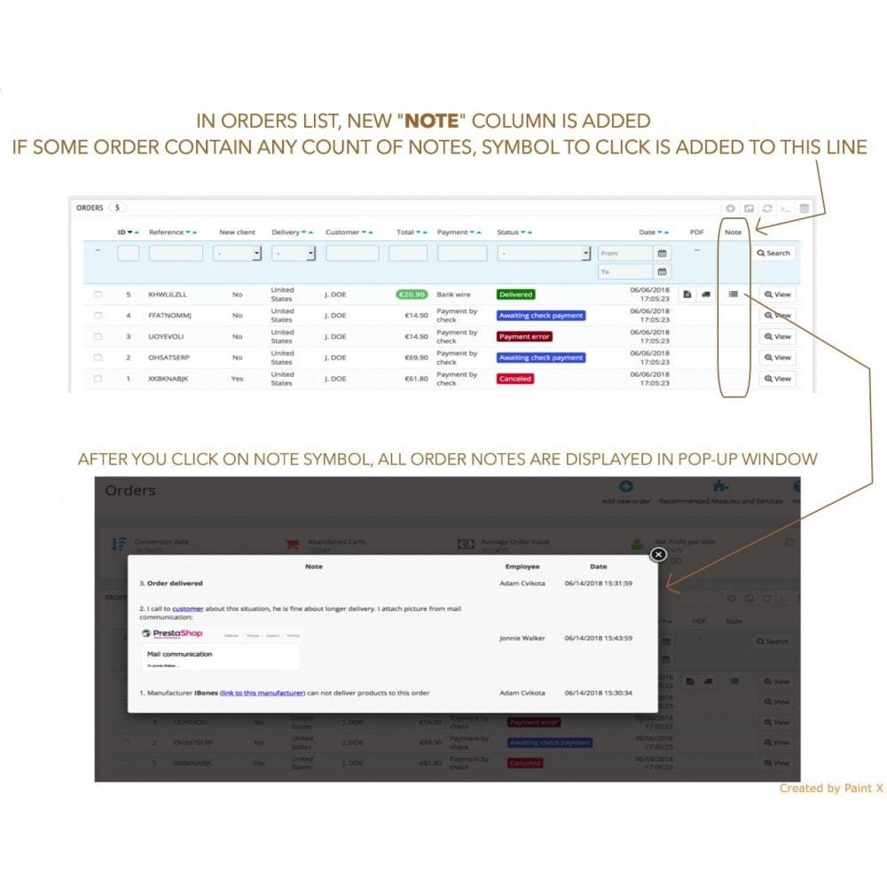 module - Inscription & Processus de commande - Notes avancées pour l'ordre les produits et les clients - 3