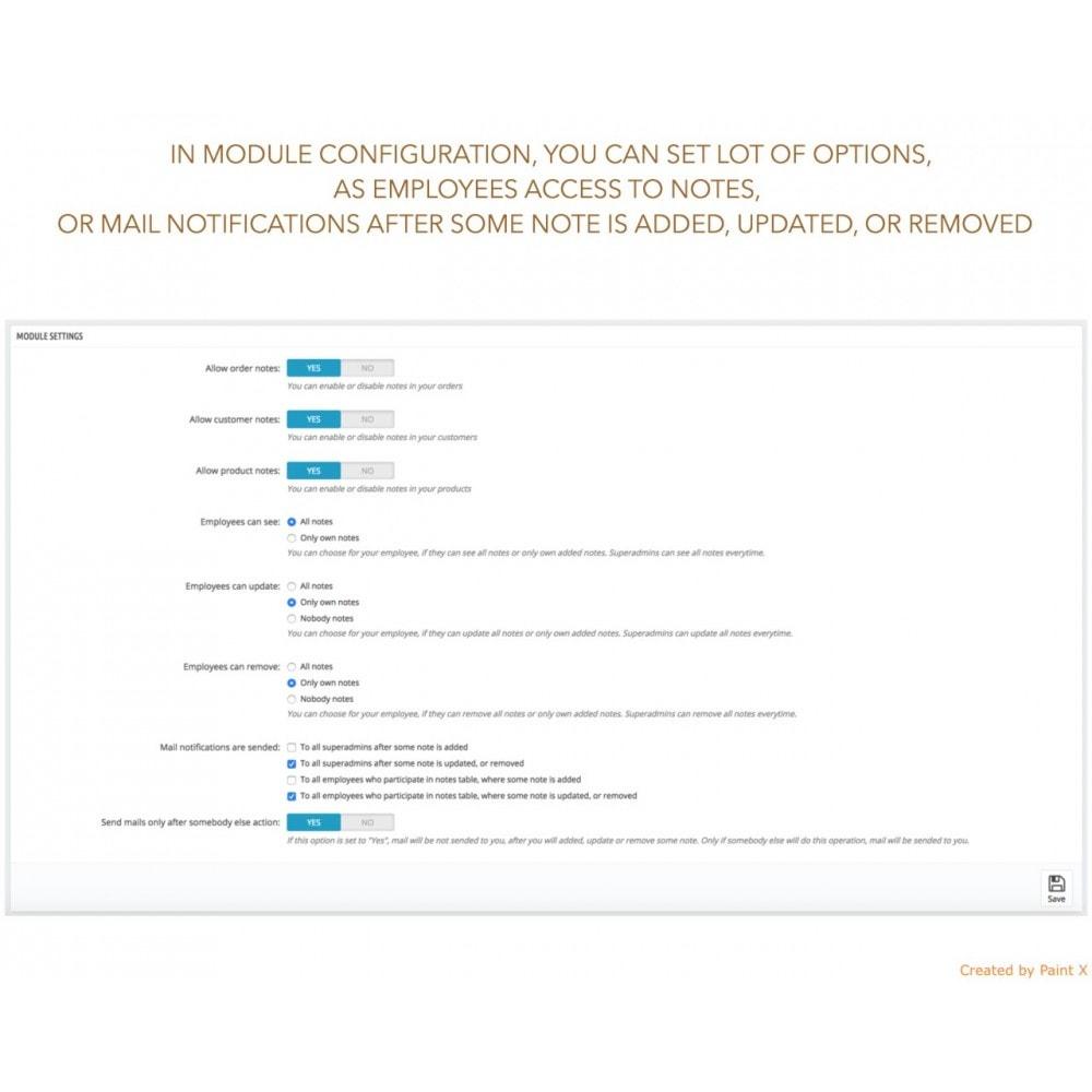 module - Inscription & Processus de commande - Notes avancées pour l'ordre les produits et les clients - 4