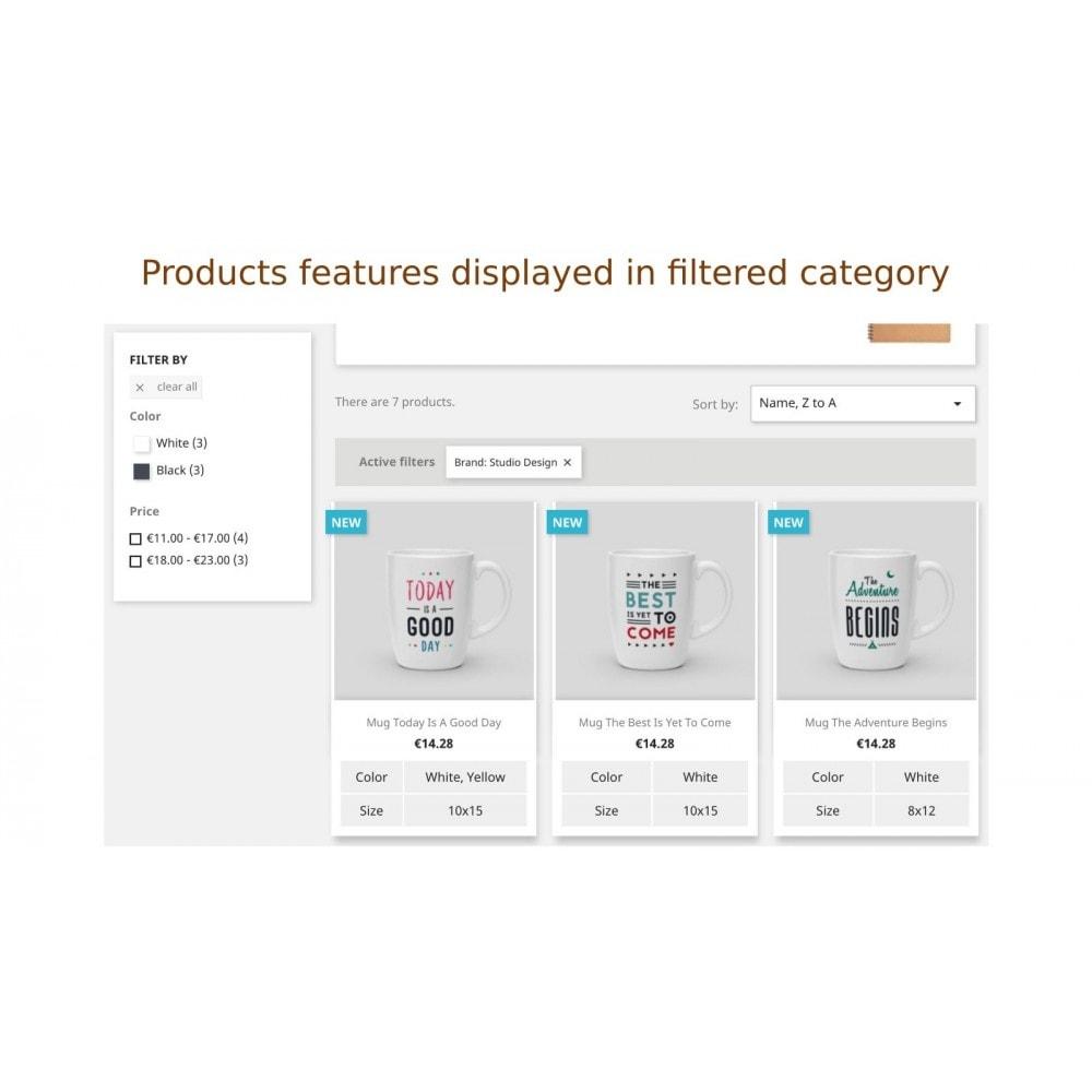 module - Information supplémentaire & Onglet produit - Afficher produit propriétés ou descriptions á la liste - 5
