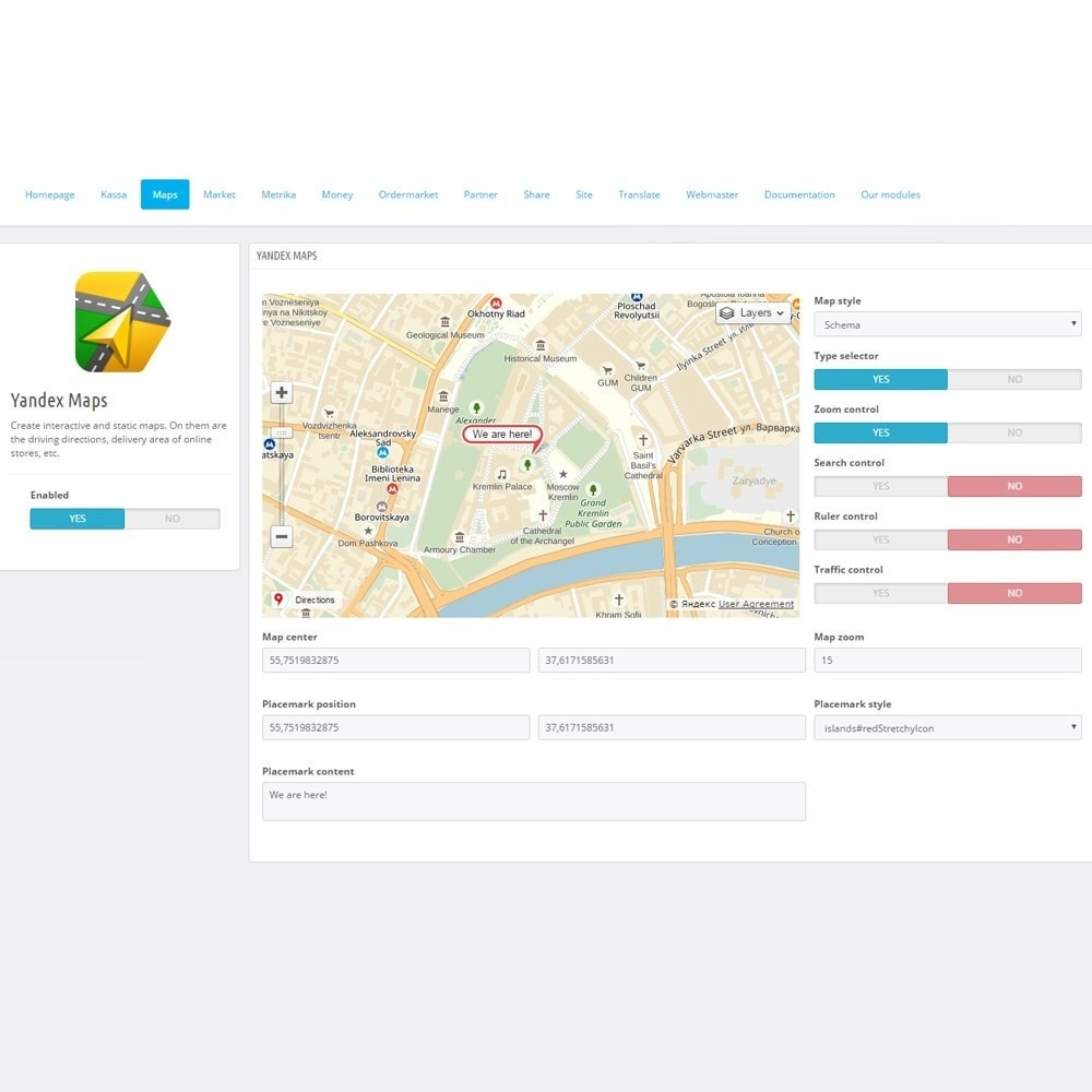 module - Pesquisa & Filtros - Integration with Yandex services - 5