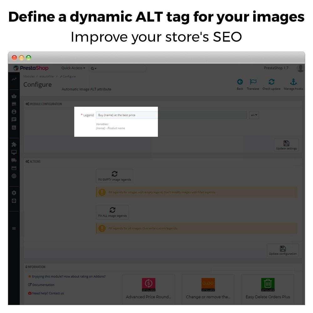 module - SEO - Automatic image ALT tag - Image SEO - 4