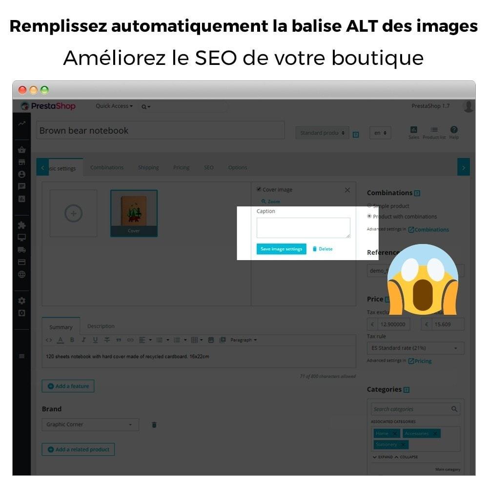 module - SEO (référencement naturel) - Balise ALT d'image automatique - SEO dans l'image - 2