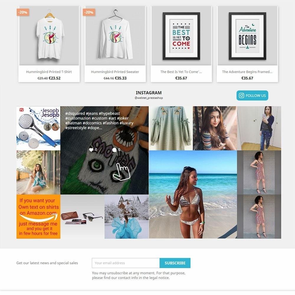module - Produkty w serwisach społecznościowych - Instagram Feed Gallery Photos User and Hashtag NEW API - 3