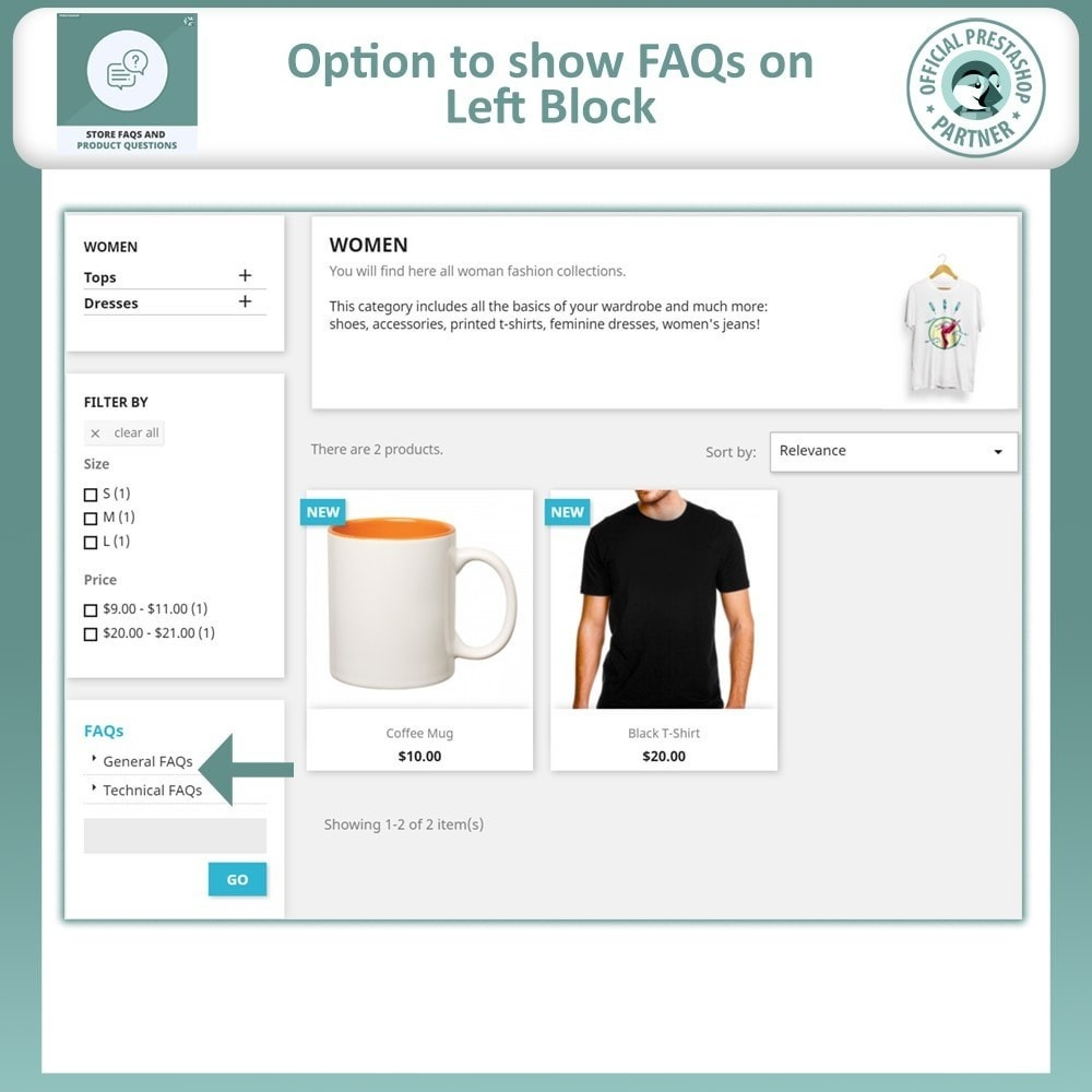 module - FAQ (Perguntas frequentes) - Store FAQs + Product FAQs (Frequently Asked Questions) - 7