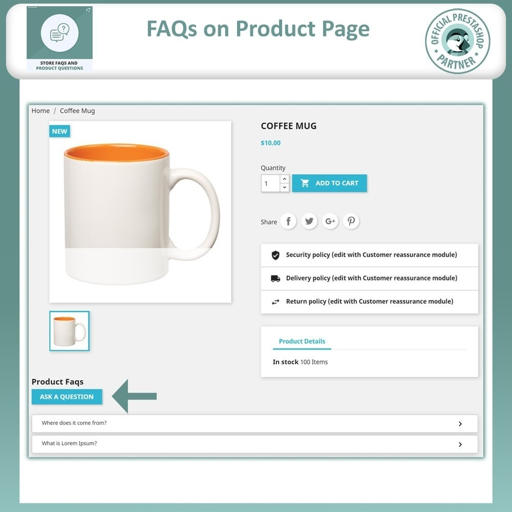 module - FAQ (Perguntas frequentes) - FAQ Store & FAQ Product (Frequently Asked Questions) - 8
