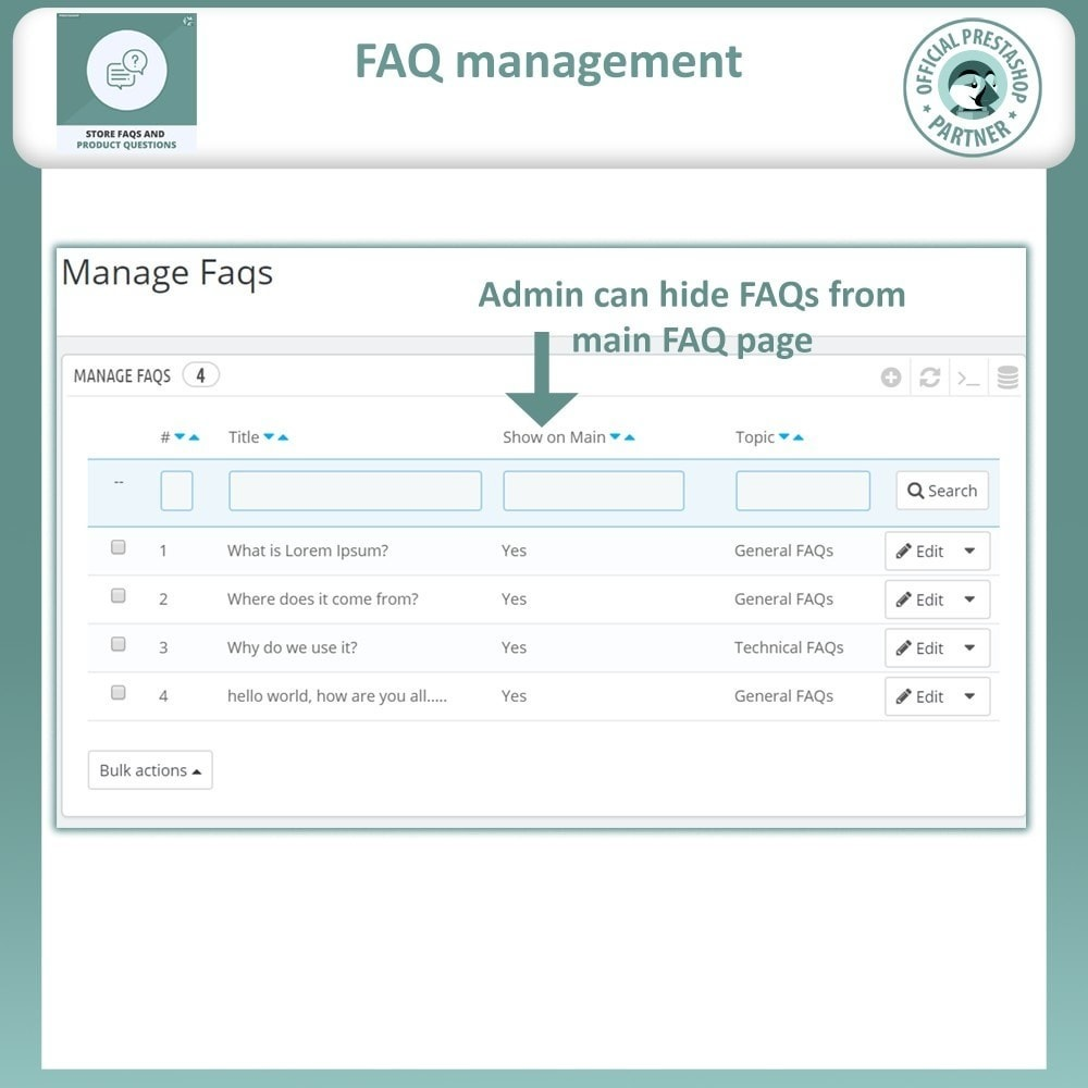 module - FAQ (Perguntas frequentes) - Store FAQs + Product FAQs (Frequently Asked Questions) - 11