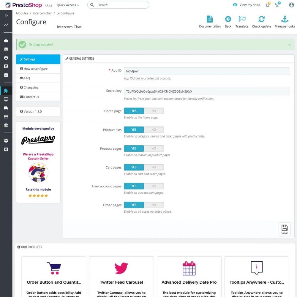 module - Asistencia & Chat online - Intercom Chat - 2