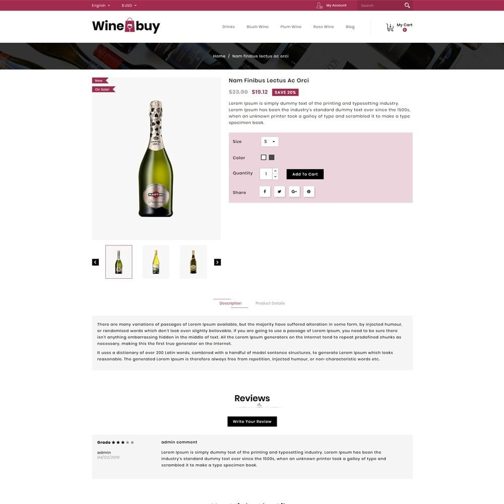 theme - Napoje & Wyroby tytoniowe - Wine buy Store - 4
